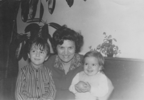 Grandma with me and my cousin. I am the smiley one. People change.